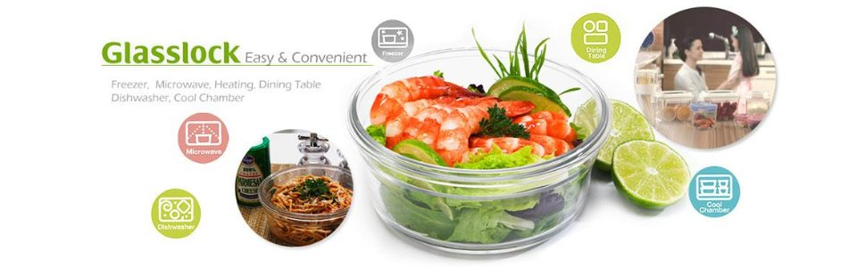 Glasslock Microwavable Glass Containers