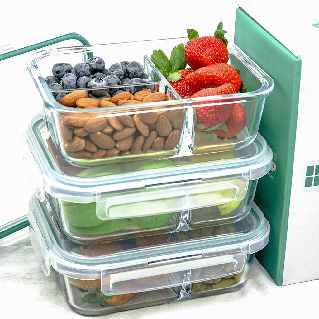 Glass Meal Prep Containers - Glass Food Storage Containers with Lids xn378exn