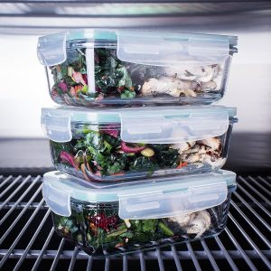 Glass food Prep Containers BPA Free Container Set
