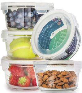 Round Glass Meal Prep Containers with Lids Food Storage Containers